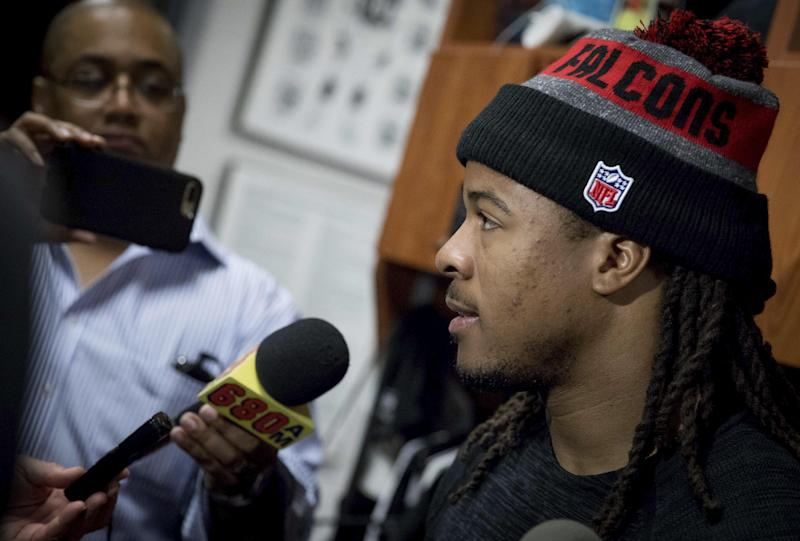 Devonta Freeman has the largest contract among all NFL running backs. (AP)