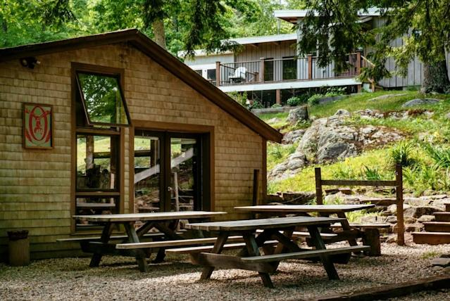 <p>The Airbnb also comes with a $25-a-night credit to use in the Oxbow Brewery tasting room. There's also plenty to explore on the property, including a pond, woods and gardens. (Airbnb) </p>