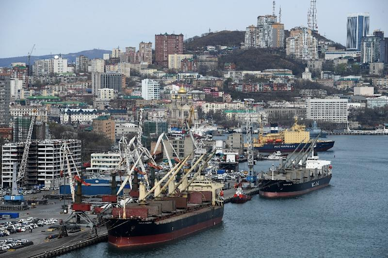 North Koreans in the far-eastern Russian port city of Vladivostok do not venture an opiniion when asked about the summit between President Kim Jung Un and Russia's Vladimir Putin (AFP Photo/Kirill KUDRYAVTSEV)