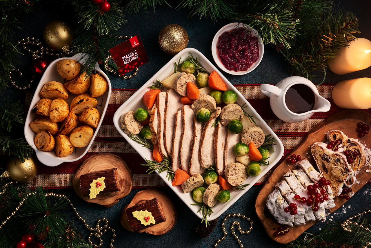 <p>You always imagined the people in First had it better but did you ever think it would be this fancy? Chocolate yule log, European Christmas cakes… the list goes on. Picture: Emirates. </p>
