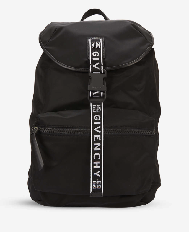 GIVENCHY Brand-embroidered zipped shell backpack