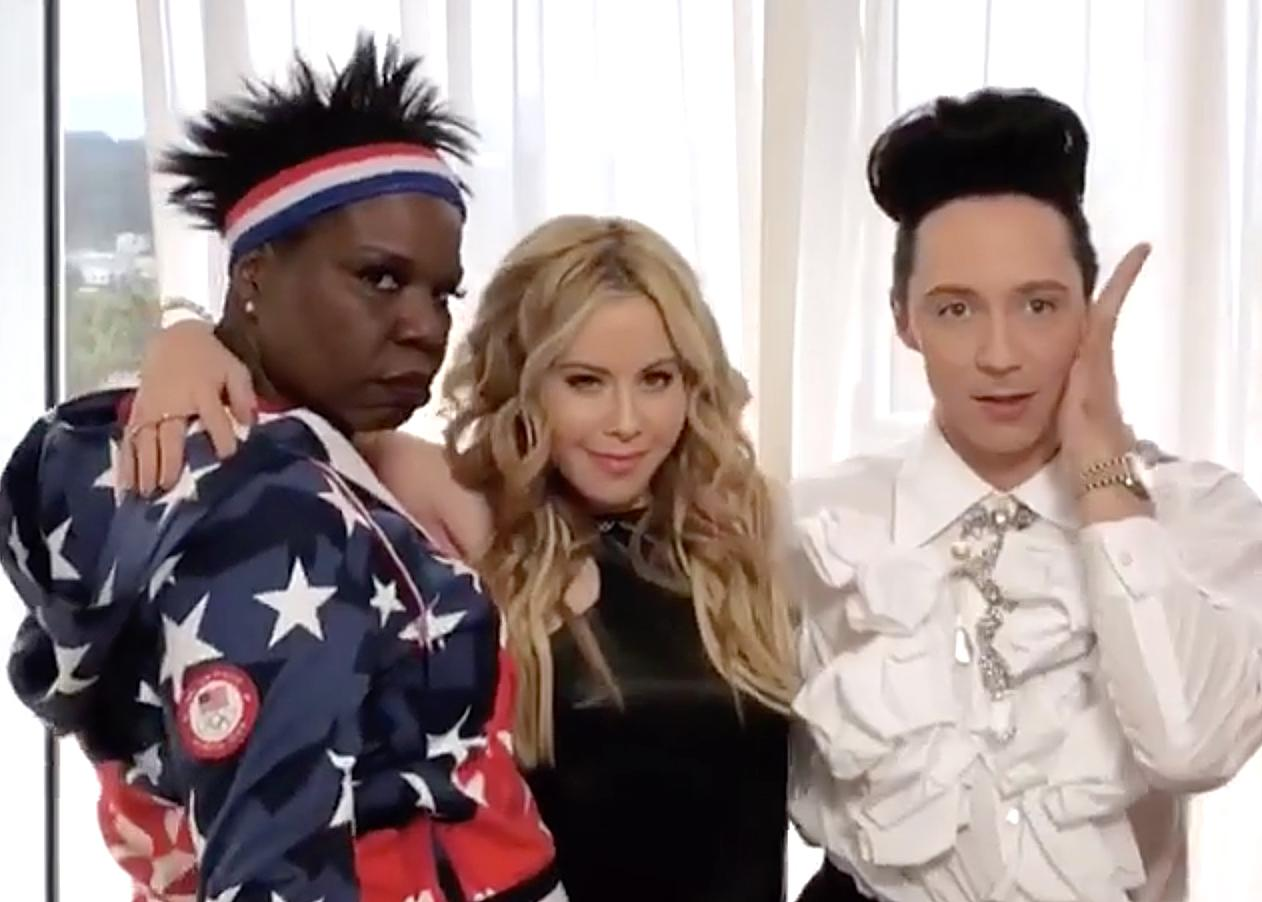 <p>taralipinski: Our morning with @lesdogggg was everything you could ask for and more. Just wait for our next video….coming very shortly @johnnygweir (Photo via Instagram/taralipinski) </p>