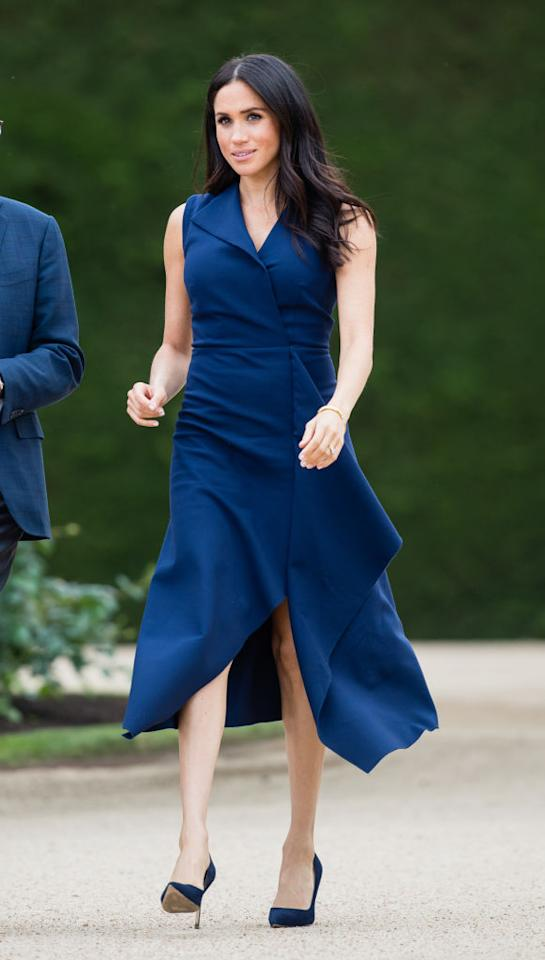 <p>Meghan Markle attends a reception hosted by the governor of Victoria and Anthony Howard at Government House in Victoria on Oct. 18, 2018, in Melbourne, Australia. (Photo: Samir Hussein/WireImage) </p>