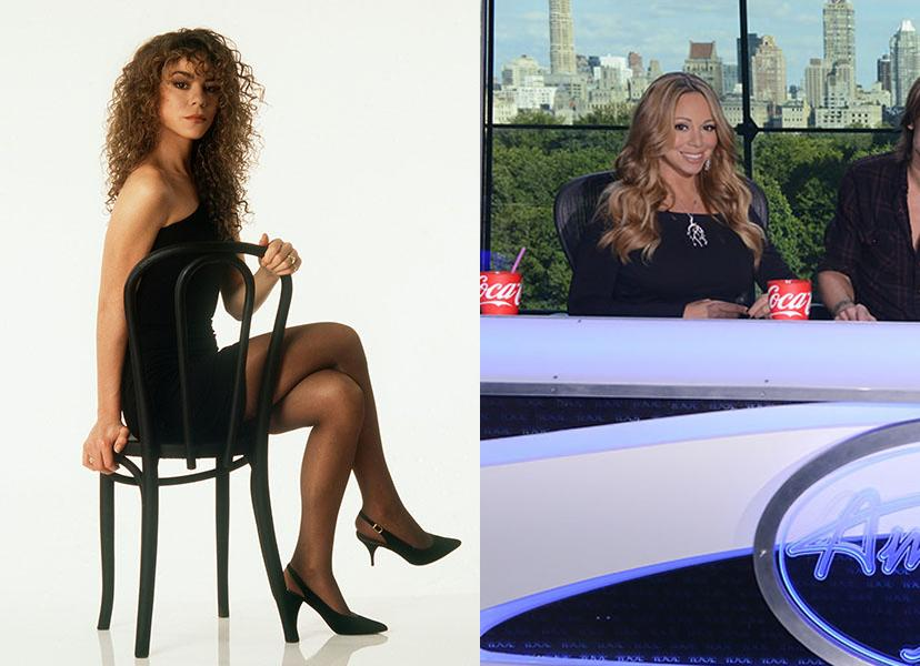 "Mariah Carey - Little Miss Diva Mariah Carey is the epitome of early '90s style with her curly hair, little black dress, and buckets of attitude.  Also: anyone who grew up in the '90s can tell you--that decade was all about the glamour shot on a chair. Over 20 years later, Carey is still rockin' the chair, but this time it's a judge's chair. The record-breaking artist and mother of two is now infamously embroiled in a feud with her ""American Idol"" co-host Nicki Minaj, but as we grew up blasting ""Vision of Love,"" it's safe to say we're firmly Team Carey."
