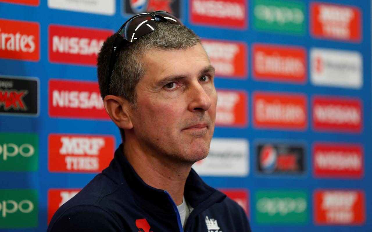 Cricket - Women's Cricket World Cup Final Preview - England Nets & Press Conference - London, Britain - July 22, 2017   England women's head coach Mark Robinson during the press conference   Action Images via Reuters/John Sibley