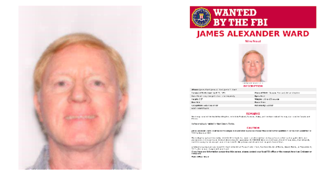 James Ward from Scotland is wanted by the FBI (Picture: FBI)