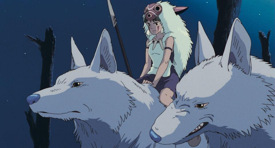 Princess Mononoke and the Wolf Gods.