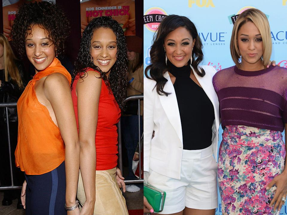 Tia and Tamera Mowry then and now