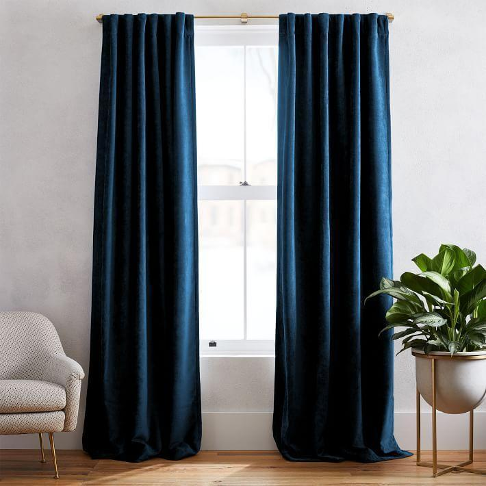 "<p>West Elm seamlessly blends style and function in each of their curtain styles. This velvet set, for example, has a subtle sheen and super-soft feel, while still effectively blocking out light and cold air. You even have the option to leave curtains unlined or add a blackout lining for added customization. </p><p><a class=""link rapid-noclick-resp"" href=""https://go.redirectingat.com?id=74968X1596630&url=https%3A%2F%2Fwww.westelm.com%2Fproducts%2Ftextured-upholstery-velvet-curtain-regal-blue-t4353%2F&sref=https%3A%2F%2Fwww.goodhousekeeping.com%2Fhome-products%2Fg34524563%2Fbest-places-to-buy-curtains%2F"" rel=""nofollow noopener"" target=""_blank"" data-ylk=""slk:SHOP NOW"">SHOP NOW</a><br></p>"