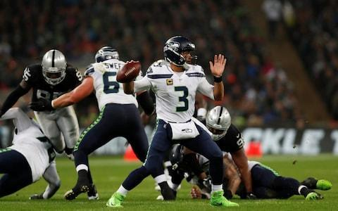 <span>Russell Wilson produced a moment of magic in the first half for a TD</span> <span>Credit: Action Images via Reuters </span>