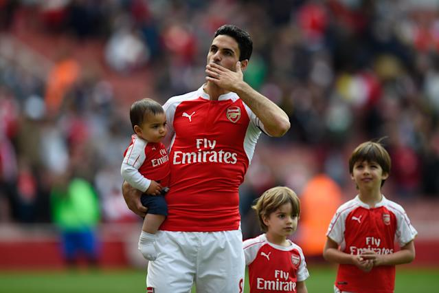 Arteta spent the final five seasons of his playing career with the Gunners before retiring in 2016. (Mike Hewitt/Getty)