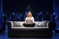 """This image released by Vivacity Media Group shows Elizabeth Stanley in a scene from the musical """"Jagged Little Pill."""" (Matthew Murphy/Vivacity Media Group via AP)"""