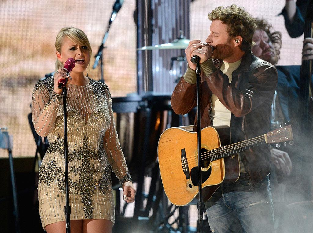 Miranda Lambert and Dierks Bentley perform at the 55th Annual Grammy Awards at the Staples Center in Los Angeles, CA on February 10, 2013.