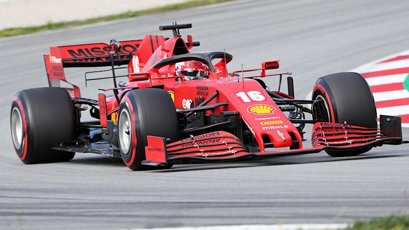 Charles Leclerc, pictured here in action for Ferrari.