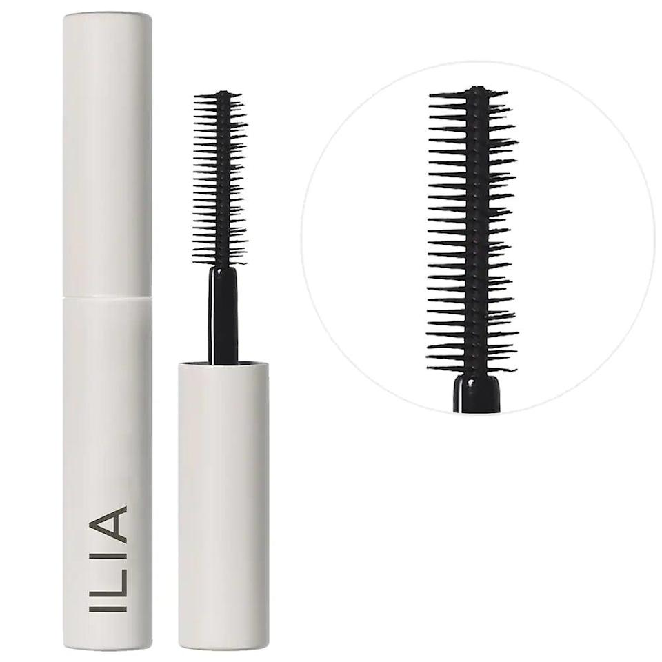 <p>Give your lashes clump-free length with the <span>Ilia Mini Limitless Lash Lengthening Mascara</span> ($13) for that fanned out lash look. </p>