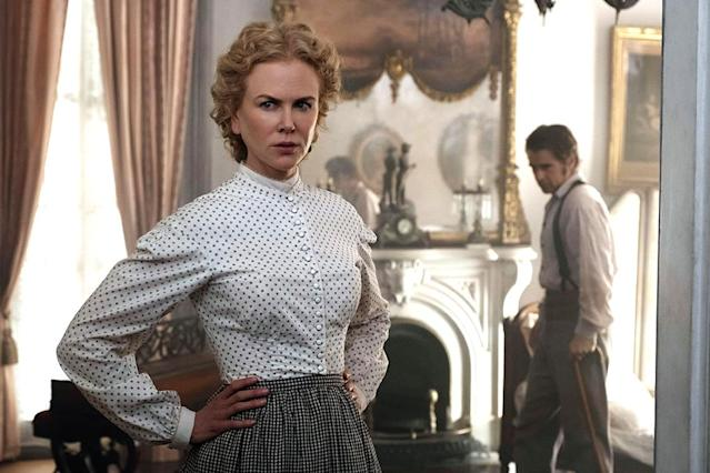 <p>Sofia Coppola's sumptuous Civil War drama focuses on the women left behind — specifically, the teachers and students at a Southern ladies' school, whose rigid lives are upended by the arrival of a wounded soldier (Colin Farrell). Tense as a drop of sweat waiting to fall, <i>The Beguiled</i> features gorgeous cinematography and some of Nicole Kidman's career-best furtive glances. —<i>G.W.</i> (Photo: Focus Features)<br><br></p>