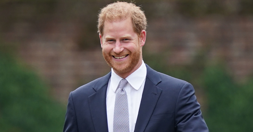 Prince Harry smiling.
