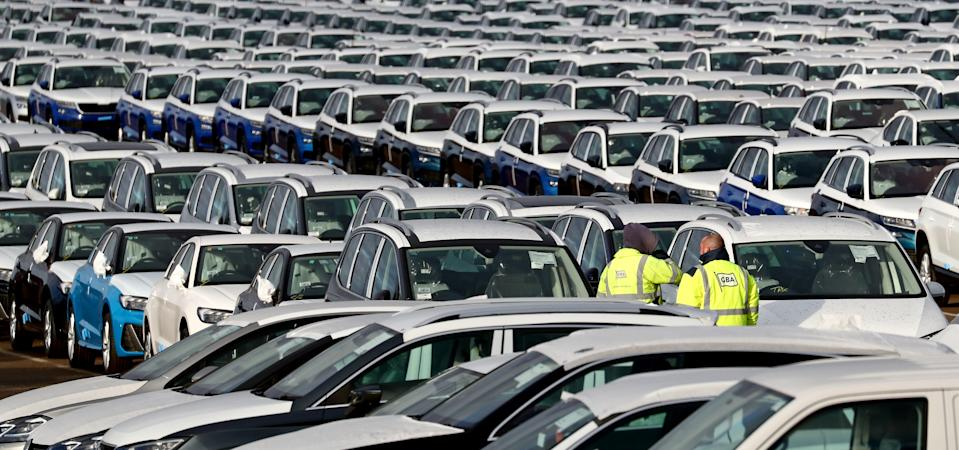 Thousands of new cars lined-up at a compound near Sheerness in Kent. New car sales sunk to a six-year low in 2019 due to low consumer confidence and uncertainty over the treatment of diesel vehicles, the automotive industry has said. (Photo by Gareth Fuller/PA Images via Getty Images)