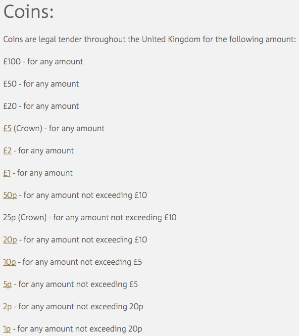 1ps only count as 'legal tender' for any transaction equal to or less than 20p