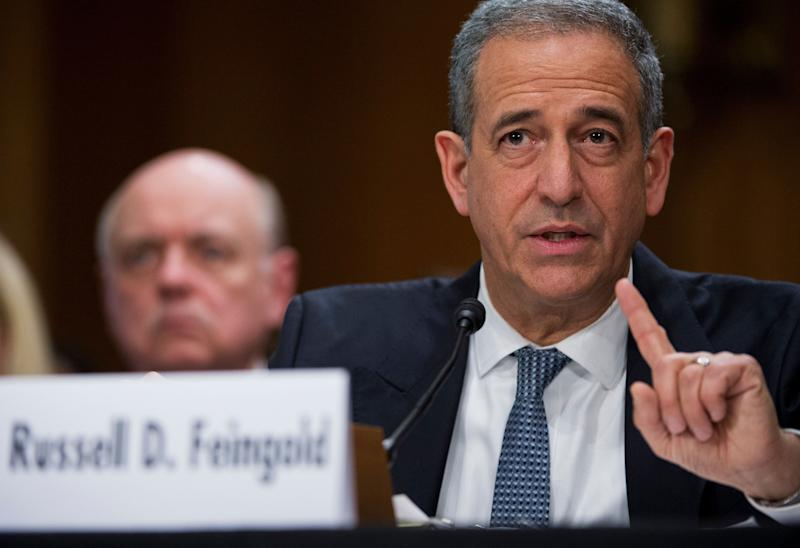 Former Sen. Russ Feingold (D-Wis.) said his organization, American Constitution Society, has more than 40 working groups across the United States ready to propose judicial nominees to Biden. He is pictured abovetestifying before a Senate Foreign Relations Committee hearing. (Photo: Tom Williams via Getty Images)