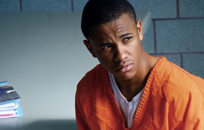 "This film image released by IFC Films shows Tequan Richmond as Lee Boyd Malvo in ""Blue Caprice."" (AP Photo/IFC Films)"