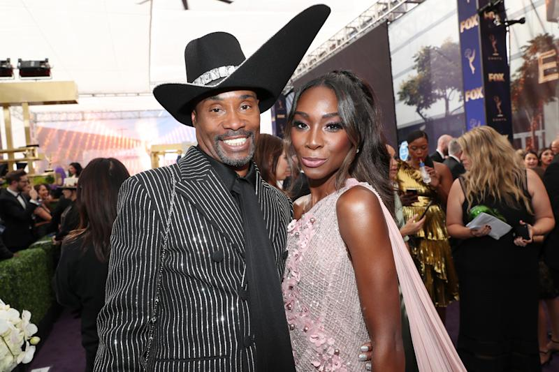 LOS ANGELES, CALIFORNIA - SEPTEMBER 22: Billy Porter and Angelica Ross walk the red carpet during the 71st Annual Primetime Emmy Awards on September 22, 2019 in Los Angeles, California. (Photo by Rich Polk/Getty Images for IMDb)