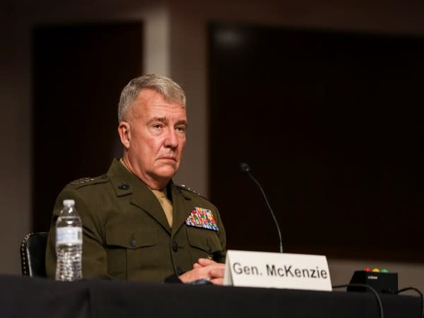 US General Kenneth McKenzie attends a Senate Armed Services Committee hearing at Capitol Hill in Washington (Photo credit: Reuters)