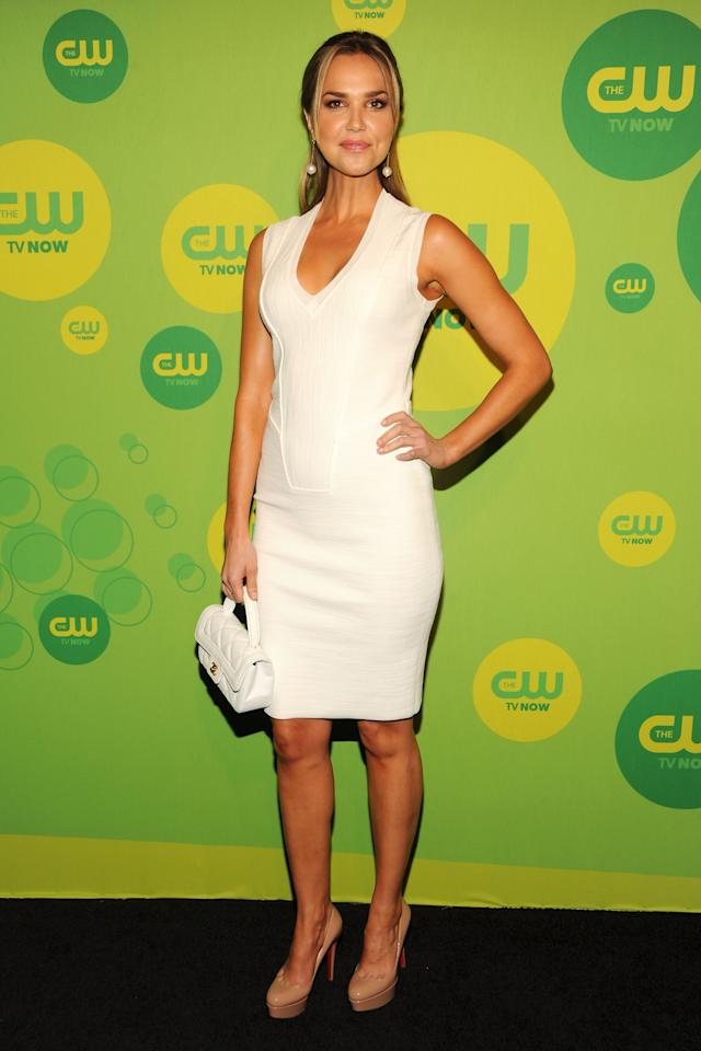 NEW YORK, NY - MAY 16:  Actress Arielle Kebbel attends The CW Network's New York 2013 Upfront Presentation at The London Hotel on May 16, 2013 in New York City.  (Photo by Ben Gabbe/Getty Images)