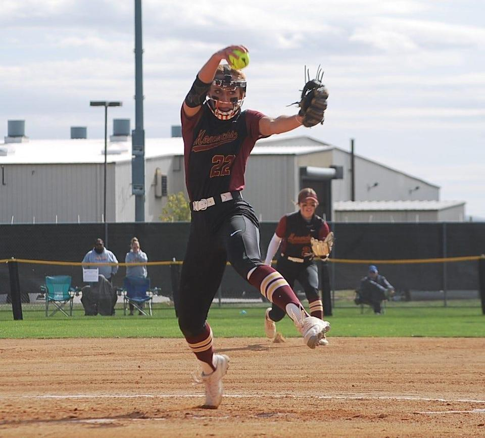 During her senior season Papillion-La Vista High School (Nebraska) softball standout Jordyn Bahl notcheda 27-0 record, with a microscopic 0.10 ERA while fanning 316 and yielding only 15 walks in 137 innings. She also batted .510 with20 home runs, 37 runs scored and 55 RBIin 33 games.