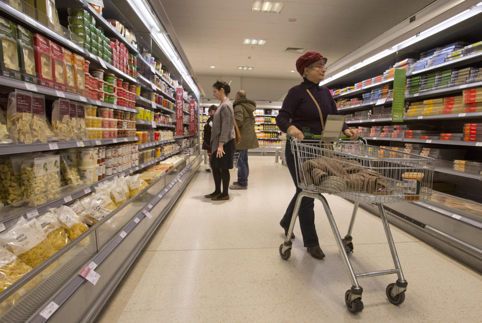 By the first week of August, the price level for groceries was around just 0.5% higher than it was at the beginning of the year. Photo: Neil Hall/Reuters