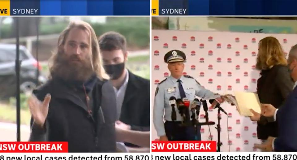 The incident unfolded live on the ABC News channel. Source: ABC