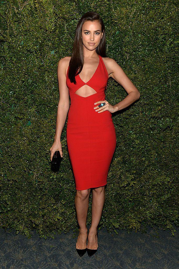 <p>Shayk wore a cut-out bodycon dress. </p>