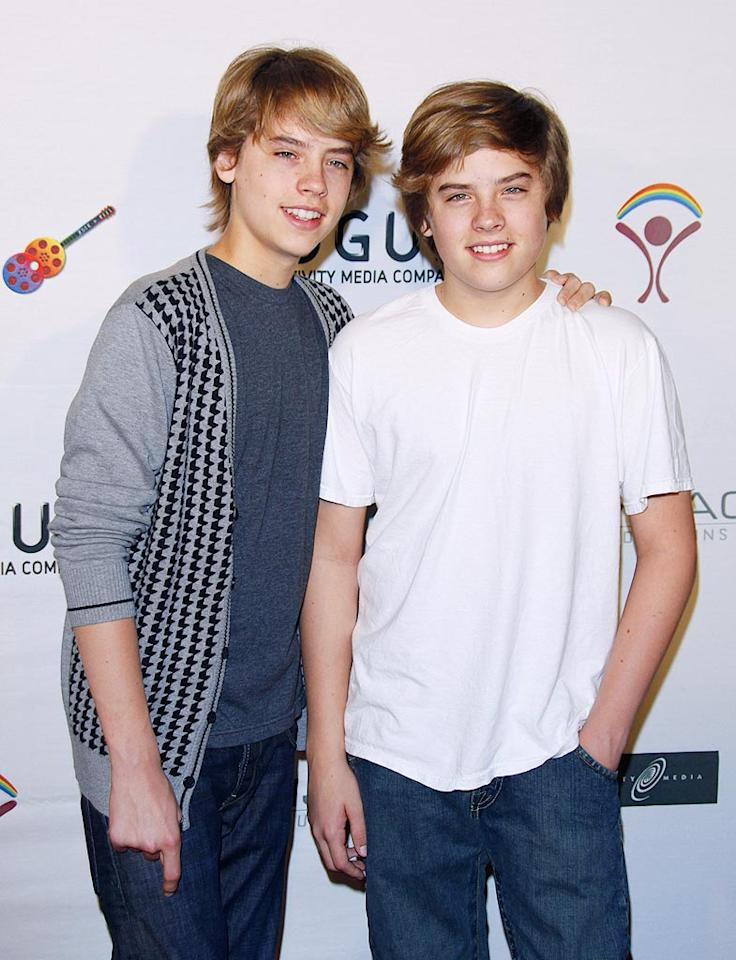 "Tween titans Cole and Dylan Sprouse smile for photographers upon entering the star-studded soiree. Jean Baptiste Lacroix/<a href=""http://www.wireimage.com"" target=""new"">WireImage.com</a> - June 14, 2009"