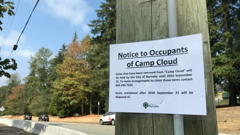 Burnaby residents express relief, dismay after Camp Cloud dismantled