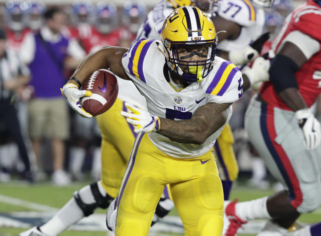 Don't sleep on Derrius Guice, fantasy drafters. (AP Photo/Rogelio V. Solis)