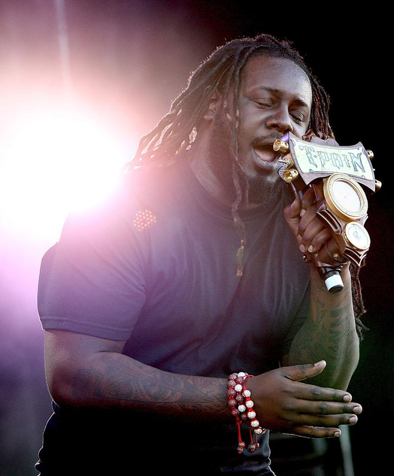 "Rapper T-Pain turns 26. Graham Denholm/<a href=""http://www.gettyimages.com/"" target=""new"">GettyImages.com</a> - April 17, 2011"
