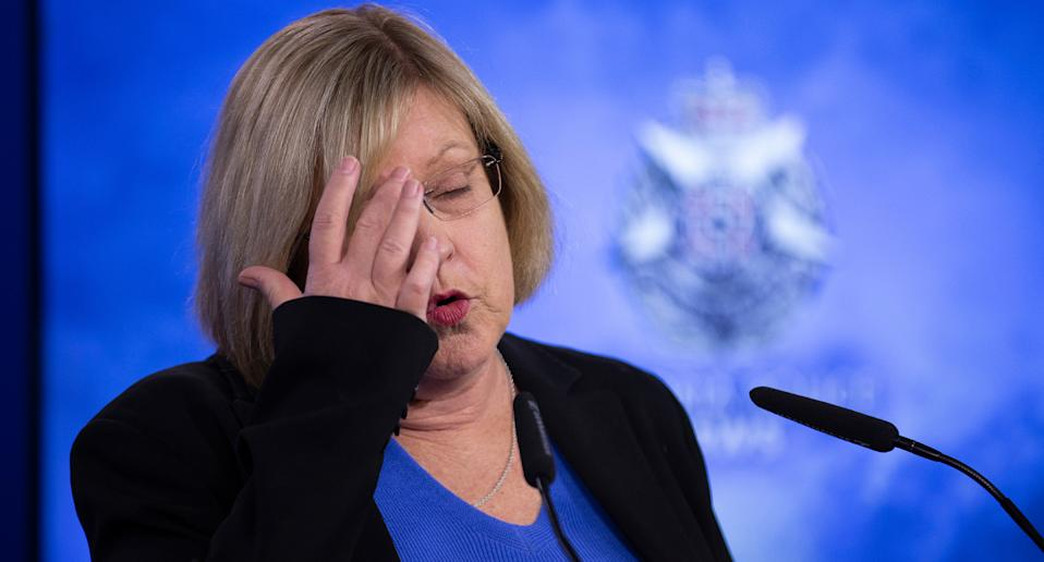 """Police minister Lisa Neville described purposely evading public health orders as """"appalling behaviour"""". Source: AAP"""