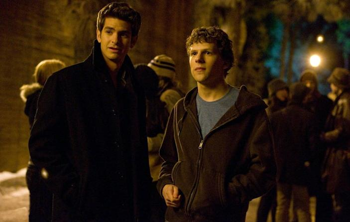 Andrew Garfield and Jesse Eisenberg in 'The Social Network'Columbia