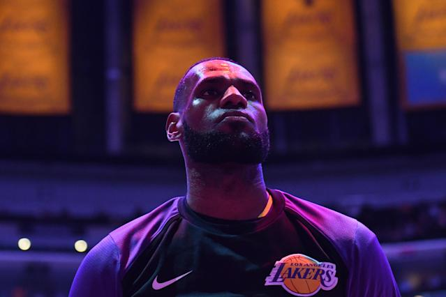 """<a class=""""link rapid-noclick-resp"""" href=""""/nba/players/3704/"""" data-ylk=""""slk:LeBron James"""">LeBron James</a> touted his wine-snobbery and progressive parenting prowess by letting you know once again he's better at things than you. (Getty)"""