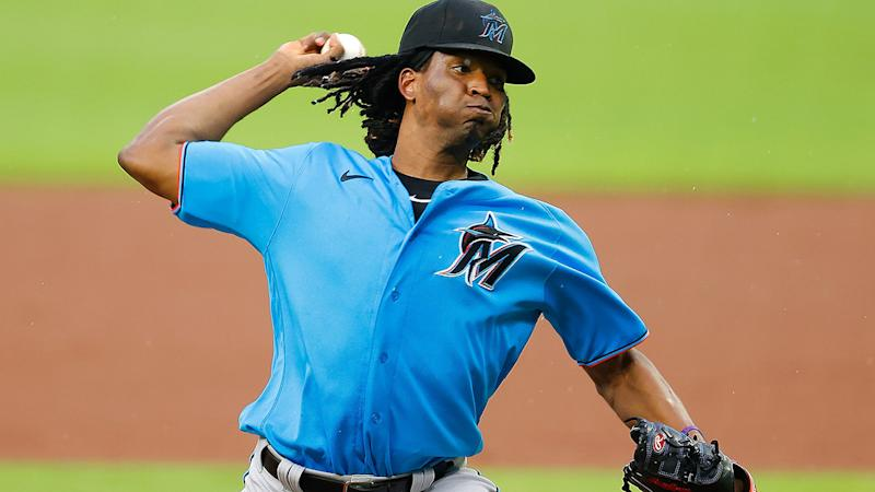 Jose Urena, pictured here pitching for the Miami Marlins.
