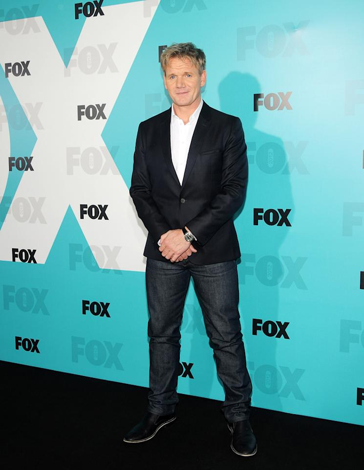 """Gordon Ramsay (""""Hell's Kitchen"""") attends the Fox 2012 Upfronts Post-Show Party on May 14, 2012 in New York City."""