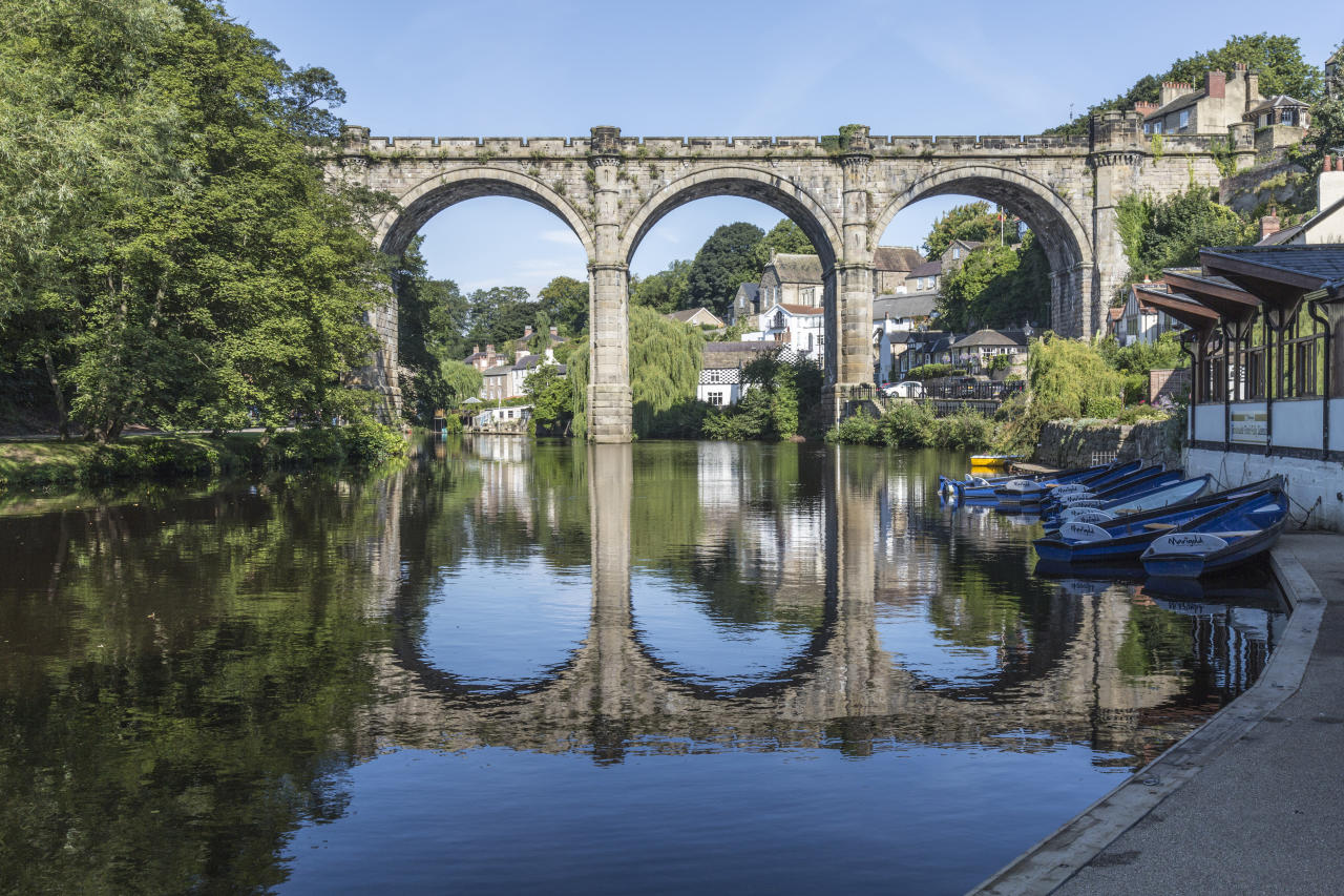 <p>Pleasant cafes line the streets of this photogenic North Yorkshire town. Walk off your lunch with a riverside stroll or hop in the car to take in some of the incredible views of the countryside locally and the famous railway bridge. <em>[Photo: Getty]</em> </p>