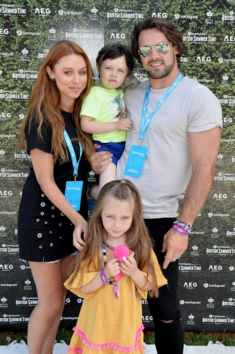 Una Healy, Ben Foden and their children Aoife Belle Foden and Tadhg John Foden attend Barclaycard presents British Summer Time at Hyde Park on July 2, 2017 in London, England. (Photo by Jeff Spicer/Getty Images)