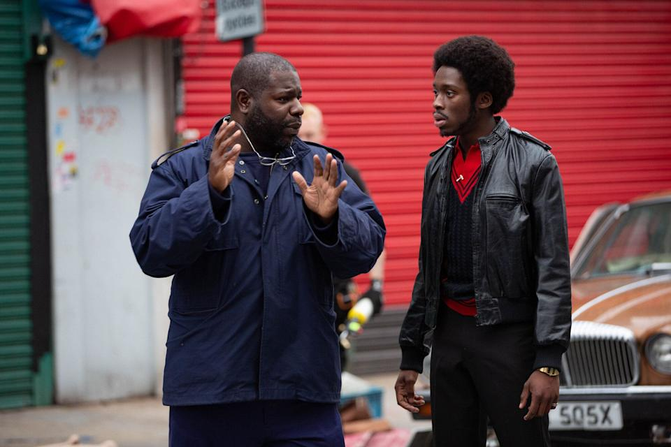 Director Steve McQueen with Sheyi Cole (Photo: BBC/McQueen Limited/Will Robson-Scott)