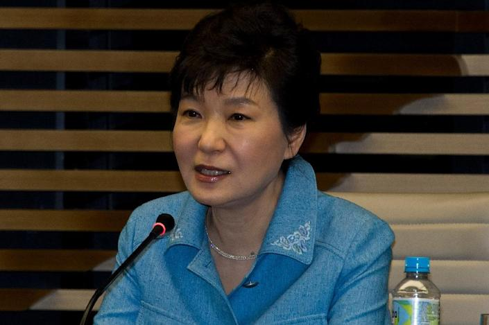 South Korean President Park Geun-hye, pictured during a visit to Sao Paulo, Brazil, in April 2015 (AFP Photo/Nelson Almeida)
