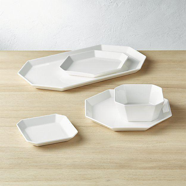 """<p>Don't let you grandmother talk you into fine china. Dinnerware is one of those areas you're allowed to veer trendy. These unique plates look a lot more expensive than their $8 price tag.</p><p><strong><em>BUY IT NOW: Intermix White Dinnerware, from $3.50; </em></strong><a href=""""https://www.cb2.com/intermix-white-dinnerware/f15735"""" rel=""""nofollow noopener"""" target=""""_blank"""" data-ylk=""""slk:Cb2.com"""" class=""""link rapid-noclick-resp""""><strong><em>Cb2.com</em></strong></a></p>"""