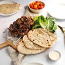 """<p>Shish kebabs (aka <a href=""""https://www.delish.com/uk/cooking/recipes/g36091853/kebab-recipe/"""" rel=""""nofollow noopener"""" target=""""_blank"""" data-ylk=""""slk:skewered"""" class=""""link rapid-noclick-resp"""">skewered</a> cubes of meat), make the tastiest <a href=""""https://www.delish.com/uk/cooking/recipes/g32768299/easy-dinner-recipes/"""" rel=""""nofollow noopener"""" target=""""_blank"""" data-ylk=""""slk:weeknight dinner"""" class=""""link rapid-noclick-resp"""">weeknight dinner</a>. Packed with flavour and delicious alongside some warm<a href=""""https://www.delish.com/uk/cooking/recipes/a31277945/low-carb-flatbread-recipe/"""" rel=""""nofollow noopener"""" target=""""_blank"""" data-ylk=""""slk:flatbread"""" class=""""link rapid-noclick-resp""""> flatbread</a>, you're in for a taste sensation!</p><p>Get the <a href=""""https://www.delish.com/uk/cooking/recipes/a36227265/lamb-shish-kebab/"""" rel=""""nofollow noopener"""" target=""""_blank"""" data-ylk=""""slk:Lamb Shish Kebabs"""" class=""""link rapid-noclick-resp"""">Lamb Shish Kebabs</a> recipe.</p>"""