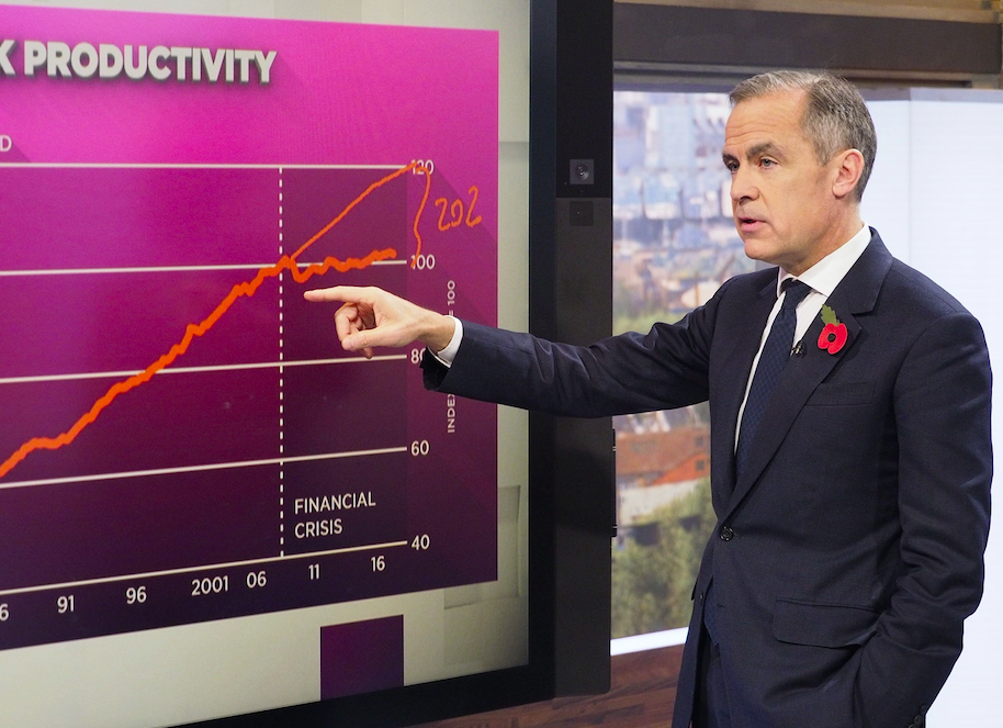 Mr Carney said the UK is doing well, but could be 'booming' (Picture: Rex)