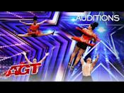 "<p>High jumps, intense footwork, gravity-defying turns — BAD Salsa can do it all, which they proved during their audition earlier this year. Who knows what crazy-cool moves the talented dancing duo will pull out over the next few weeks ...</p><p><a href=""https://www.youtube.com/watch?v=n7uMoKwPco4"" rel=""nofollow noopener"" target=""_blank"" data-ylk=""slk:See the original post on Youtube"" class=""link rapid-noclick-resp"">See the original post on Youtube</a></p>"