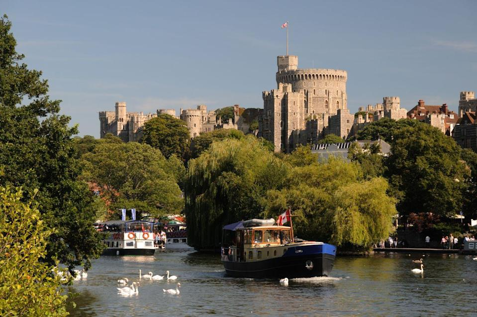 """<p>Popping in for a cuppa with Queen Elizabeth might not go down well in Windsor, but a day trip to the southeast of England town certainly won't go a miss (or get you arrested). </p><p>Home to Windsor Castle, a famous residence of the British Royal Family, which was built by William The Conqueror in the 11th century, Windsor has become increasingly popular over the years following <a href=""""https://www.elle.com/uk/meghan-markle-actress/"""" rel=""""nofollow noopener"""" target=""""_blank"""" data-ylk=""""slk:Prince Harry and Meghan Markle"""" class=""""link rapid-noclick-resp"""">Prince Harry and Meghan Markle</a>'s <a href=""""https://www.elle.com/uk/royal-wedding/"""" rel=""""nofollow noopener"""" target=""""_blank"""" data-ylk=""""slk:royal wedding"""" class=""""link rapid-noclick-resp"""">royal wedding</a> at St George's Chapel in 2018. </p><p>Royal fans are advised to pay a visit to Frogmore House (the location of the couple's wedding reception and burial grounds for Queen Victoria and Prince Albert) as well as taking taking a stroll down the Long Walk - a historic three mile avenue from Windsor Castle to the Copper Horse Statue.</p><p><strong>Distance from London</strong>: 24.6 miles</p><p><strong>How to get there</strong>: London Paddington to Windsor & Eton Central via <a href=""""https://www.thetrainline.com/book/results?journeySearchType=single&origin=2144c4ddc11461cf9b03af198933e8df&destination=dfb79efbaae393df35945001df8b3d5e&outwardDate=2020-07-16T14%3A15%3A00&outwardDateType=departAfter&passengers%5B%5D=1990-07-16&selectExactTime=true&selectedOutward=owV5UCzsVBY%3D%3A2xsrRfK%2FcnE%3D"""" rel=""""nofollow noopener"""" target=""""_blank"""" data-ylk=""""slk:train"""" class=""""link rapid-noclick-resp"""">train</a> (22mins).</p>"""